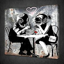 BANKSY THINK TANK CANVAS WALL ART PICTURES PRINTS VARIETY OF SIZES FREE UK P&P