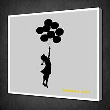 BANKSY BALLOONS CANVAS WALL ART PICTURES PRINTS VARIETY OF SIZES FREE UK P&P