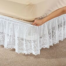 """NEW ~ Lace Wrap Around Bed Dust Ruffle 12.5""""  All Sizes White Beige Burgundy"""