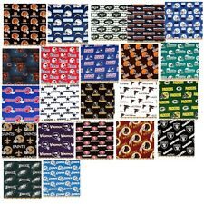 NFL cotton fabric football sports fat quarter many professional teams you select