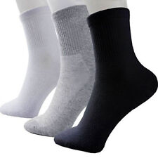 Men Cosy Cotton Sport Socks Black White Gray New High Quality Popular 1 Pairs