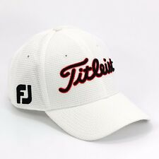 NEW Titleist White Cubic Mesh Structured Fitted FJ/ProV1 Cap/Hat/Headwear