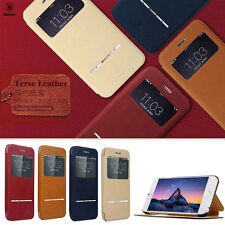 Genuine Baseus Terse Leather Window View Smart Case Cover for iPhone 6 Plus