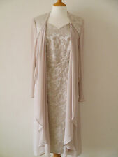 DRESSED UP BY VEROMIA DU10 MOTHER OF BRIDE DRESS & SOFT COAT RRP £575 SAVE 50%