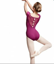 Mirella Bloch M5024LM Spot Tulle Button Back Cap Sleeve Ballet Leotard