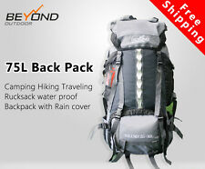 65+10L Hiking Camping Traveling Waterproof Rucksack backpack with rain cover new