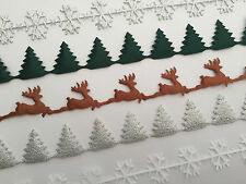 Berties Bows cut-out satin ribbon | christmas tree | snowflake | reindeer - 25mm