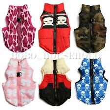 Pet Dog Cat Warm Cotton Padded Vest Jacket Puppy Harness Coat Clothes Apparel