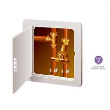 WHITE ACCESS PANEL - HINGED FLUE INSPECTION CEILING / WALL HATCH DOOR