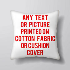 Personlised Fabric Printing YOUR IMAGE TEXT Cushion Covers Pillow Cases Home