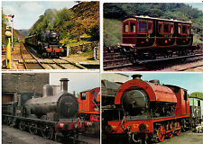 TRAIN POSTCARD ASSORTMENT TRAINS LOCOMOTIVES STEAM  EXPRESS RAILWAY POSTCARDS