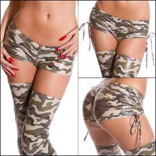 NEW SEXY LADIES CLUB DANCE WEAR XS S M L WOMENS MICRO MINI SHORTS camo HOT PANTS