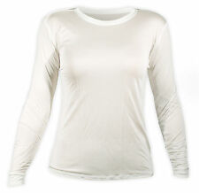 Hot Chillys Women's Silk Base Layer White Long Sleeve Crew Top  PA3102