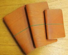 LONDON TAN JOURNALS. CAHIER, TRAVELLER'S, FIELD NOTE SIZE WITH INSERT FULL GRAIN
