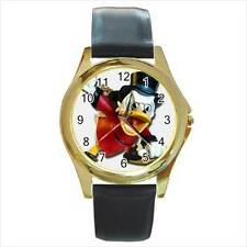 DONALD DUCK SCROOGE MCDUCK CHRISTMAS WATCH GOLD OR SILVER-TONE 6 STYLE CHOICES!