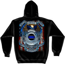 PD-HONOR OUR FALLEN OFFICERS and HEROES --HOODED  SWEATSHIRT