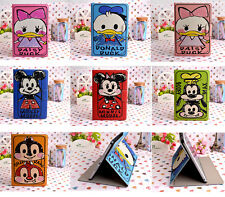 Disney Cartoon Cover Leather Stand Cover Case For iPad 2/3/4/5/6 Air/2  Mini1/2