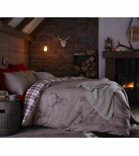 Catherine Lansfield Stag Highland Reversible CheckCotton Rich Single,Double.King