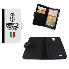CUSTODIA FLIP ECO PELLE JUVENTUS/JUVE PER IPHONE SAMSUNG GALAXY NOTE ACE