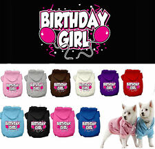 Dog Clothes BIRTHDAY GIRL Coat Hoodie Sweater Jacket for Dog Dogs Puppy COTTON