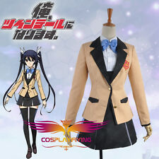 Gonna Be The Twin-Tail!! Aika Tsube School Uniforms Anime Cosplay Costumes