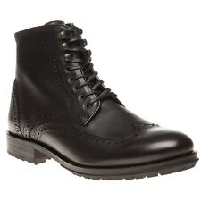 New Mens H by Hudson Black Hughes Leather Boots Brogue Shoes Lace Up