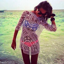 New Women Bathing Suit Sexy Crochet Bikini Swimwear Cover Up Beach Dress