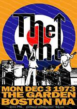 The Who Boston concert ,  vintage advertising  poster reproduction.