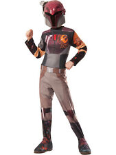 Enfant STAR WARS REBELLES Sabine Wren Fancy Dress Costume & Masque Disney Enfants Filles