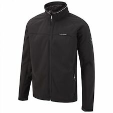 CRAGHOPPERS MENS EGOR II JACKET BLACK SOFTSHELL WATERPROOF NEW SEASON CML050