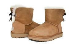 UGG Australia Women's Mini Bailey Bow Boots Chestnut Sz 5-11 BRAND NEW