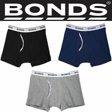 BONDS BOYS GUYFRONT GUY FRONT TRUNK UNDERWEAR BOXER SHORTS BOYLEG BLACK BOY BLUE