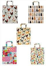 QUALITY PVC GUSSET TOTE BAG ULSTER WEAVERS CATS DOGS CHICKENS VINTAGE PATCHWORK