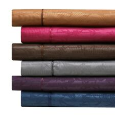 1800 Count 4 Piece Deep Pocket Bamboo Embossed Bed Sheet Set