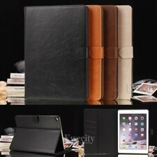 Luxury Folio Wallet Leather Stand Set Smart Case Cover For Apple iPad Device