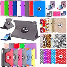360 Rotating Leather Case Skin Cover for Apple Ipad 2 3 4, Mini 1 2 3, Air 1 2