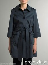JOHN LEWIS HELENE BERMAN PATCH POCKET FLARE TRENCH COAT NAVY...RRP £140