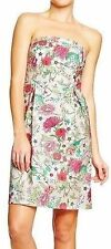 Old Navy structured strapless floral print dress NWT