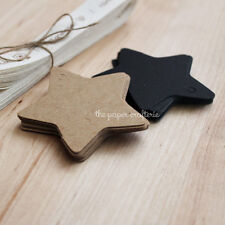 STAR GIFT TAGS Kraft Party Labels Bombonieres Gifts Wedding Baby Shower 20 pcs