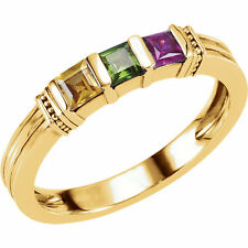 10K or 14K Solid Gold Mother's Birthstone Ring 1-3 Stones, Moms family Jewelry