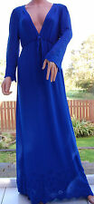 GHOST Sakura Carrie Women's Maxi Evening Dress Dazzling Blue Style DN82AJ   826