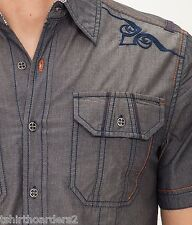 AFFLICTION Mens Embroidered Button Down Shirt RUN THIS TOWN Roar UFC S-XXL $68