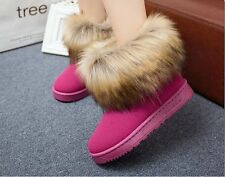 Winter fox fur fashion warm ugg boots waterproof non-slip big yards short boots