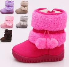 Hot New Baby Kid Girl Toddler Infant Winter Snow Keep Warm Crib Shoes Fur Boots