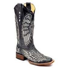 Corral Boot Womens Antiqued Cutout Cross Sq Toe Boot Style A1019 FREE SHIPPING