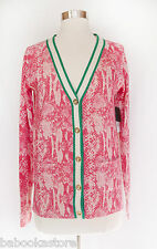 Juicy Couture Digital Python Wool Knit Cardigan S,M NWT $228