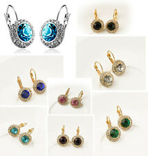 Women Fashion Rhinestone Crystal Dangle Earrings Ear Hook Stud Jewellery 1 Pair