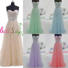 Sweetheart New Long Tulle Prom Dresses Quinceanera Ball Gown Formal Party Dress