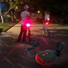 New 2Laser+5LED Flashing Lamp Alarm Light Cycling Bicycle Bike Rear Tail Warning