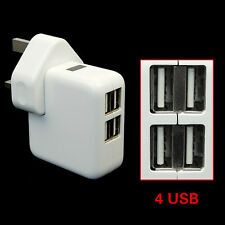 4 Port USB Home Travel Wall Charger US UK EU AU Plugs AC 1A 2.1A Power Adapter